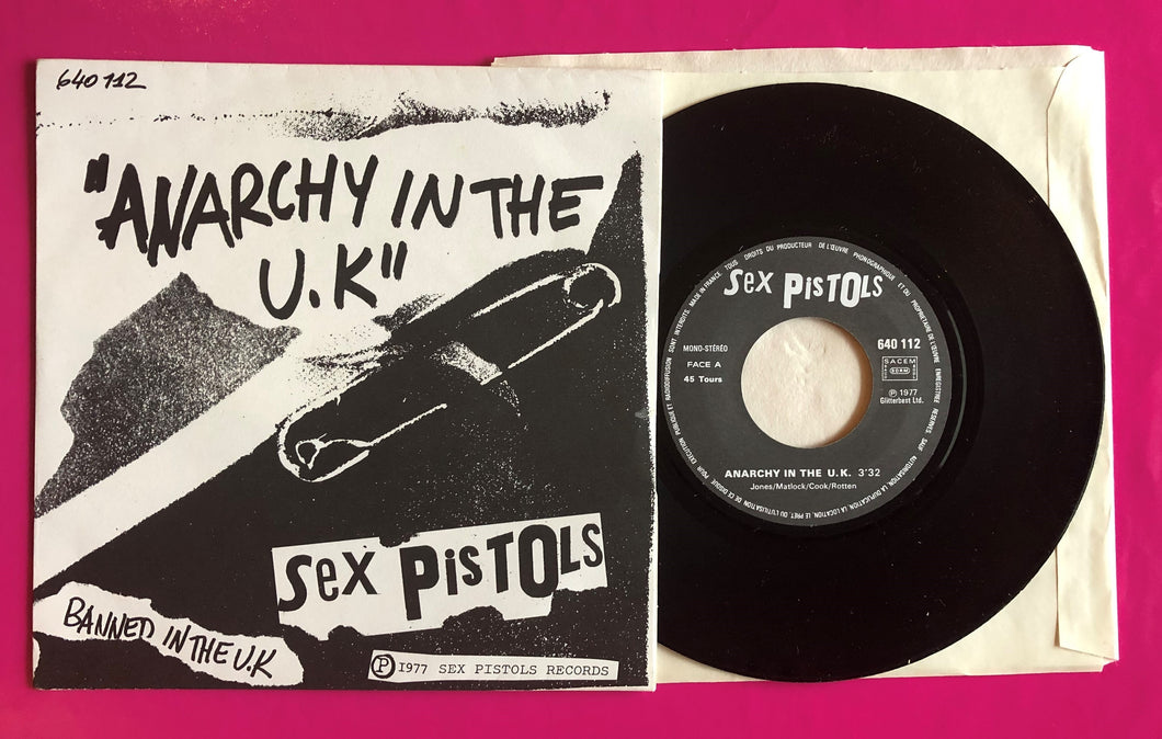Sex Pistols - Anarchy in the UK / I Wanna Be Me French Pressing 1977