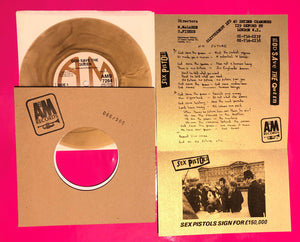 Sex Pistols - God Save The Queen A&M Gold Vinyl Limited Edition Repro