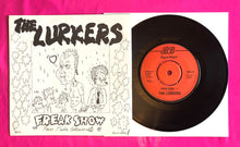 "Load image into Gallery viewer, The Lurkers - Freak Show / Mass Media Believer 7"" Single 1977 Beggars Banquet"
