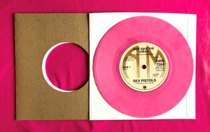 "Sex Pistols - God Save The Queen A&M Pink Vinyl Reproduction 7"" Single"
