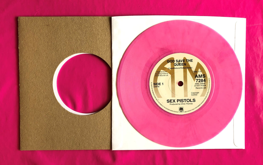 Sex Pistols - God Save The Queen A&M Pink Vinyl Reproduction 7