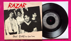 Razar - Idle Rich / One Room Doom. Rare punk single from 1978