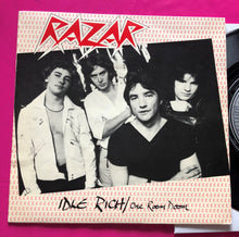 Load image into Gallery viewer, Razar - Idle Rich / One Room Doom. Rare punk single from 1978