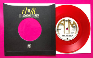 "Sex Pistols - God Save The Queen A&M Red Vinyl Reproduction 7"" Single"