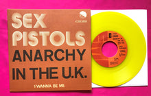Load image into Gallery viewer, Sex Pistols - Anarchy in the UK Belgian Vinyl Single Repro in 4 Colours