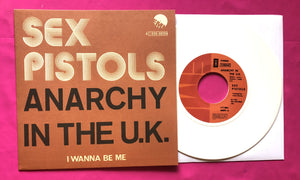 Sex Pistols - Anarchy in the UK Belgian Vinyl Single Repro in 4 Colours