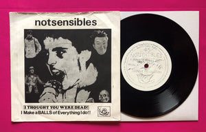 "Notsensibles - Make a Balls of Everything... Vinyl 7"" Snotty Snail Records"