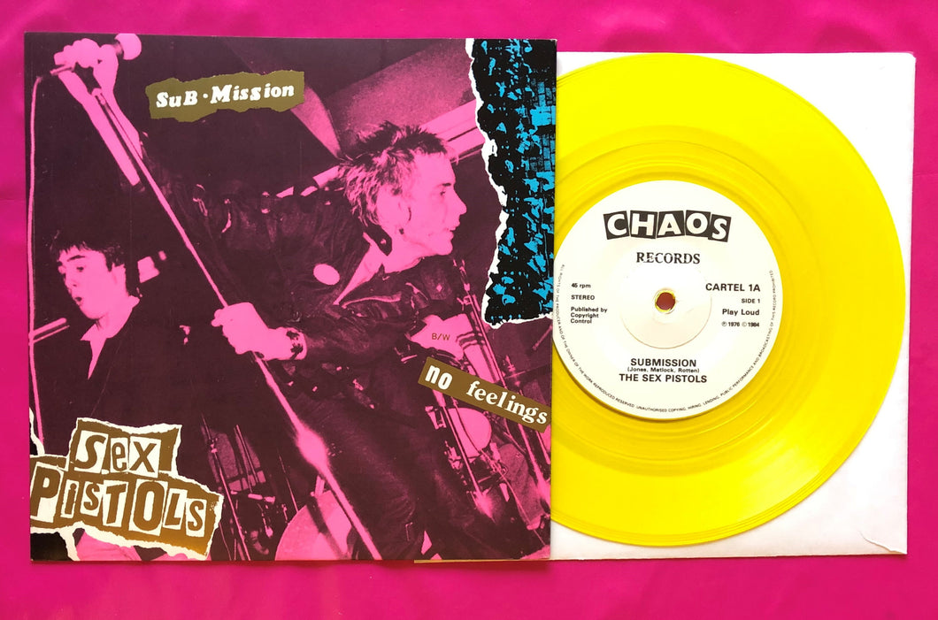 Sex Pistols - Submission / No Feelings Yellow Vinyl 7