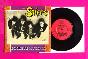 "The Stiffs - Goodbye My Love 7"" Single From 1981 on Stiff Records"