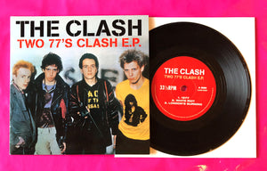 The Clash - Two 77's Clash EP Studio Outtakes Recorded 1977 Black Vinyl