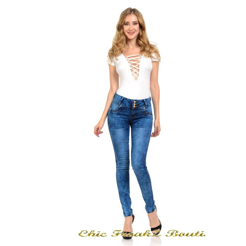M.Michel Jeans Colombian Push Up - WY5062 - Womens Jeans