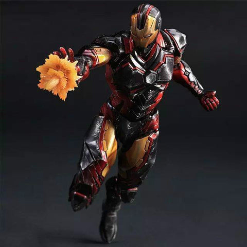 Play Arts Marvel Super Hero Ironman Figure Toy 25cm KO version