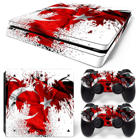 Flag  For PS4 Slim Skin Sticker Vinyl Cover