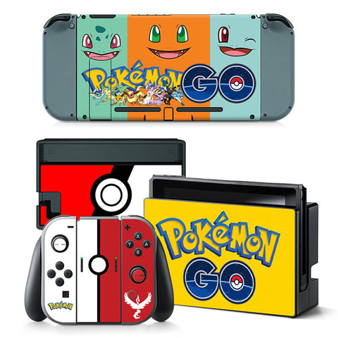 Nintend Switch Vinyl Skins Sticker For Nintendo Switch Console and Controller Skin Set - For Pokemon