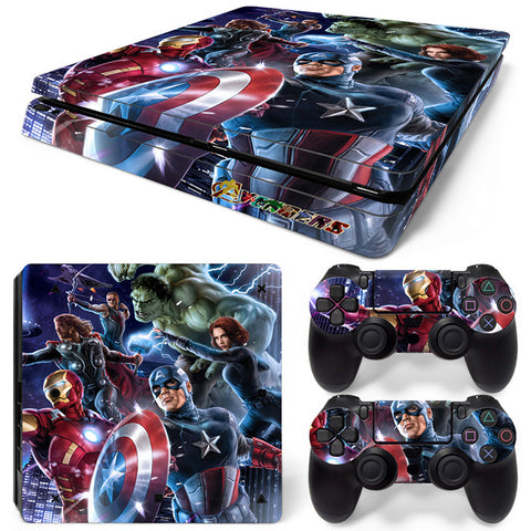 Captain America For PS4 Slim Skin Sticker Vinyl Cover
