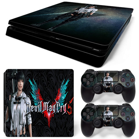 Devil may cry 5 For PS4 Slim Skin Sticker Vinyl Cover