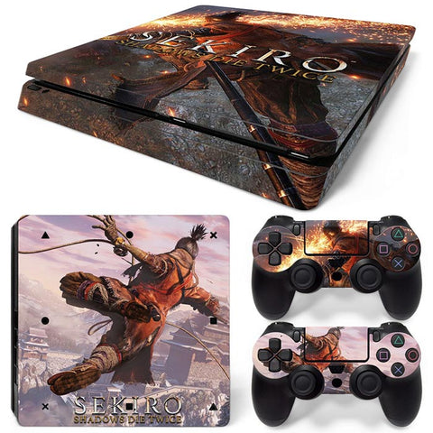SEKIRO SHADOWS DIE TWICE PS4 Slim Skin Sticker Vinyl Cover