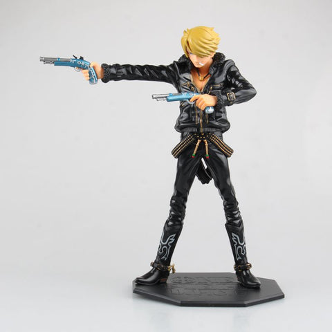Actionfiguresale 25cm One Piece sanji Black clothes Figures Toys