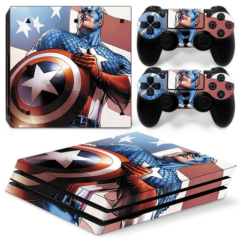 Actionfiguresale Captain America For PS4 Pro Skin Sticker Cover For PS4 Playstation 4