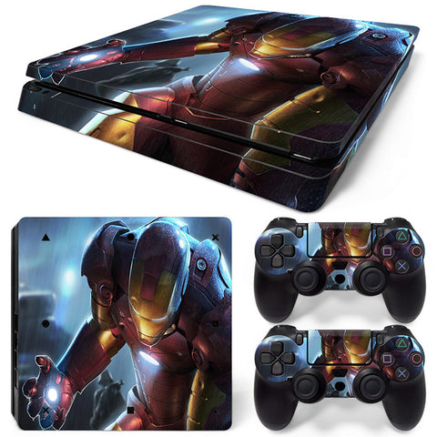 Lron Man For PS4 Slim Skin Sticker Vinyl Cover