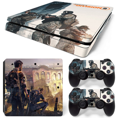 Tom Clancy's The Division2 For PS4 Slim Skin Sticker Vinyl Cover