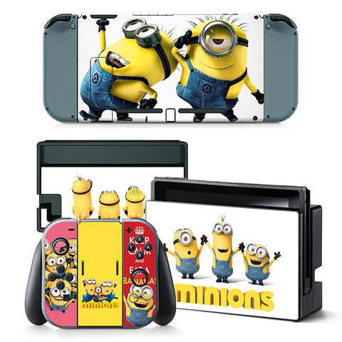 Nintend Switch Vinyl Skins Sticker For Nintendo Switch Console and Controller Skin Set - For Minions