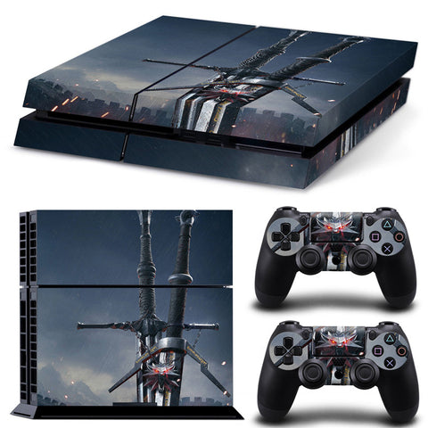 The Witcher For PS4 Vinyl Skin Sticker Cover For PS4 Playstatio 4