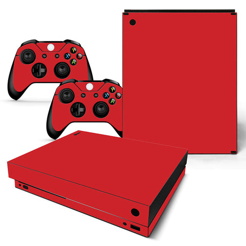Actionfiguresale Pure Color Vinyl Skin Sticker Protector for Xbox One X