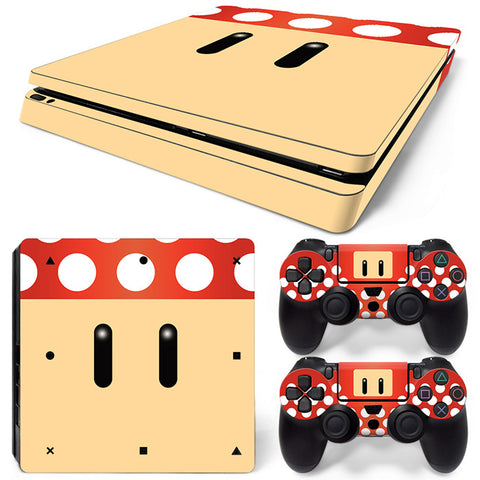 super mario For PS4 Slim Skin Sticker Vinyl Cover