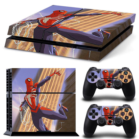 Actionfiguresale Spider Man For PS4 Vinyl Skin Sticker  Cover For PS4 Playstation 4 Console + 2 Controller Decal Game Accessories