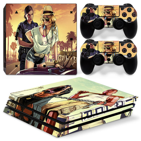 Grand Theft Auto For PS4 Pro Skin Sticker Cover For PS4 Playstation 4
