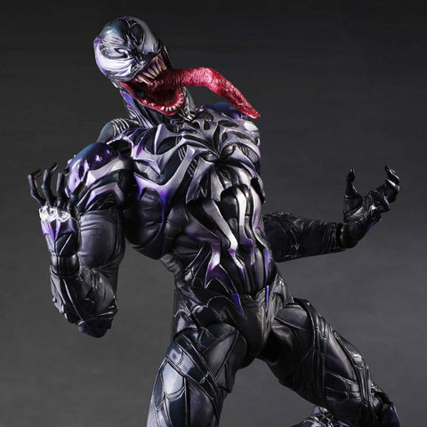 Play Arts Marvel Venom in Movie Spiderman Action Figure Toys 25cm KO version