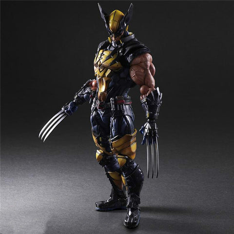 Play Arts Marvel X-Men Wolverine Action Figure Toy 26cm KO version