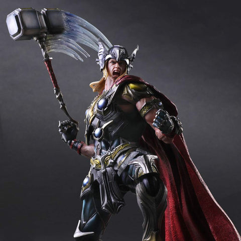 Play Arts Marvel Super Hero Thor Action Figure Toy 25cm KO version