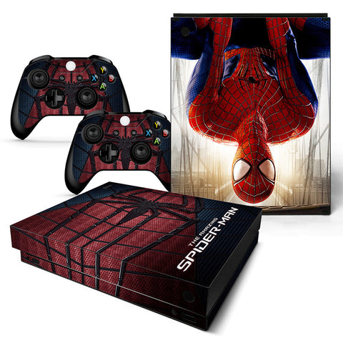 Actionfiguresale Spider Man Vinyl Skin Sticker Protector for Microsoft Xbox One X