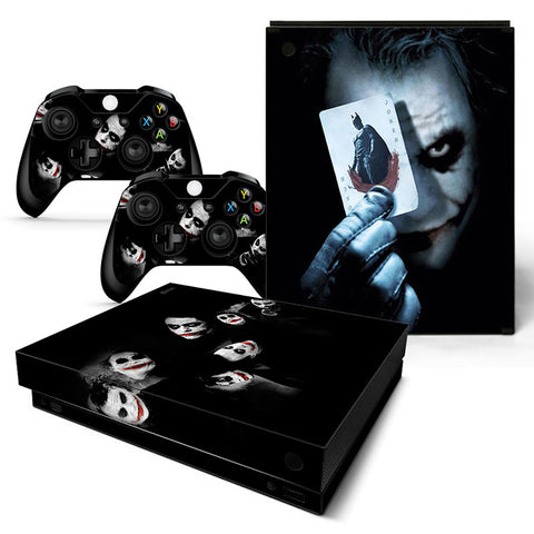 Actionfiguresale The Joker Vinyl Skin Sticker Protector for Xbox One X