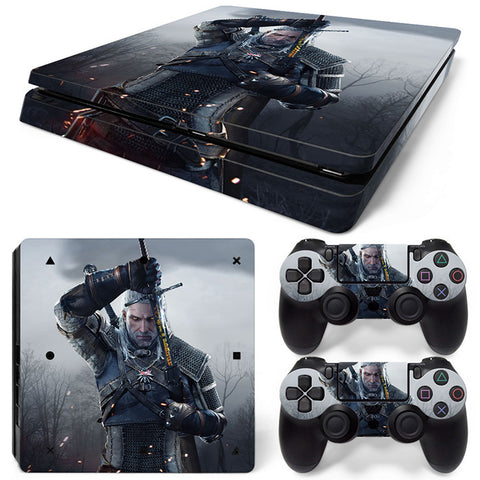 Actionfiguresale witcher For PS4 Slim Skin Sticker Vinyl Cover