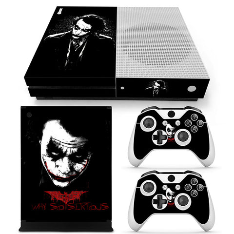 Actionfiguresale The Joker Vinyl Skin Sticker Protector for Xbox One S