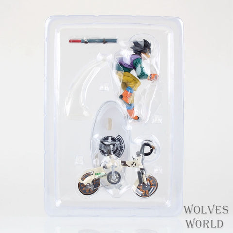 Dragon Ball Z Sun Gokou Riding Bicycle Action Figure Toys