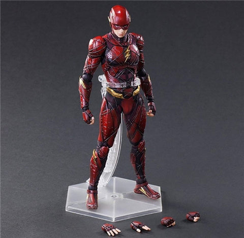 Play Arts Justice League The Flash Action Figures Toys 25cm