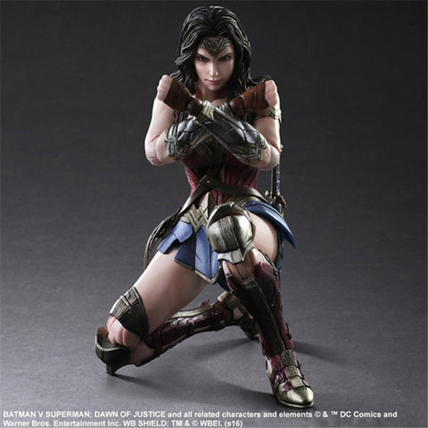 Actionfiguresale Play Arts DC Justice League Wonder Woman Action Figure Toy 25cm