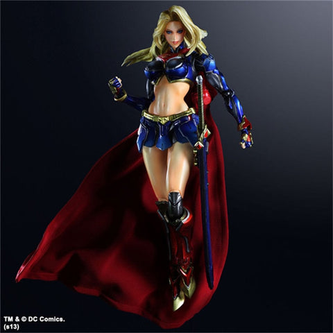 Actionfiguresale Play Arts DC Super-Girl Action Figure Toy 26cm