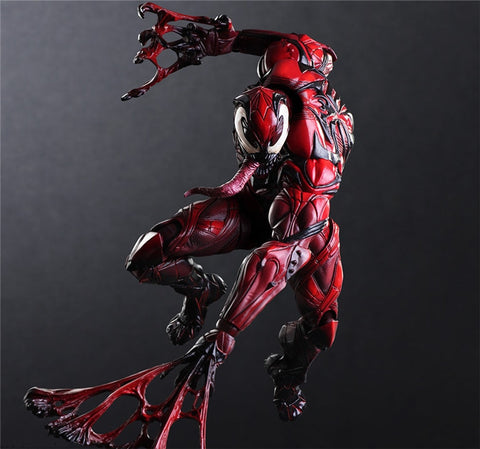 Play Arts Marvel Venom Red Limited Figure Toys 25cm