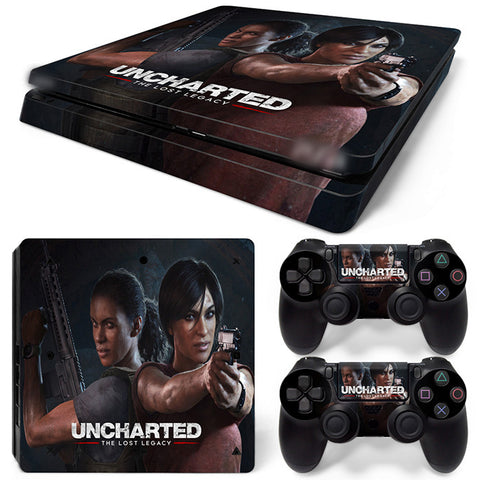 Actionfiguresale Uncharted  For PS4 Slim Skin Sticker Vinyl Cover