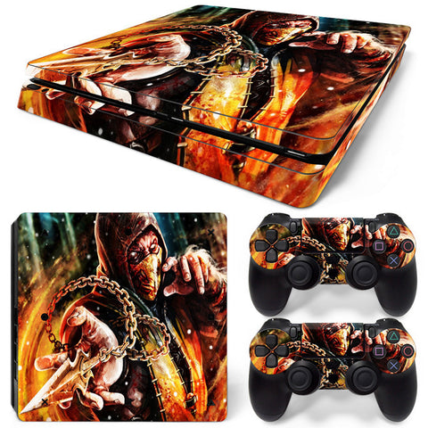 Actionfiguresale Mortal Kombat  For PS4 Slim Skin Sticker Vinyl Cover