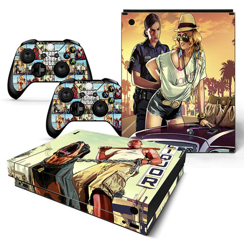 Grand Theft Autov Vinyl Skin Sticker Protector for Xbox One X