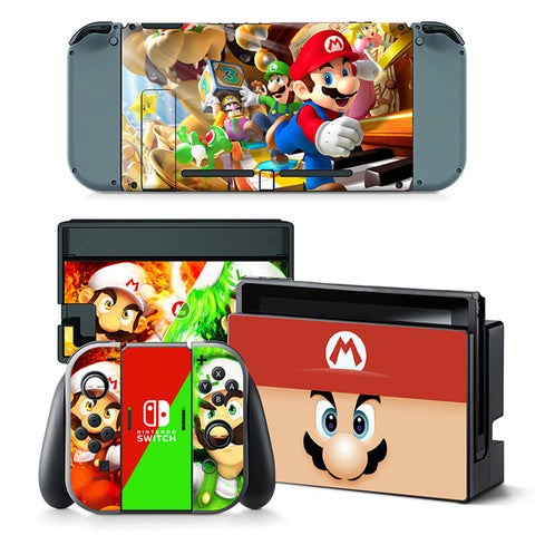 Nintend Switch Vinyl Skins Sticker For Nintendo Switch Console and Controller Skin Set - For Super Marie
