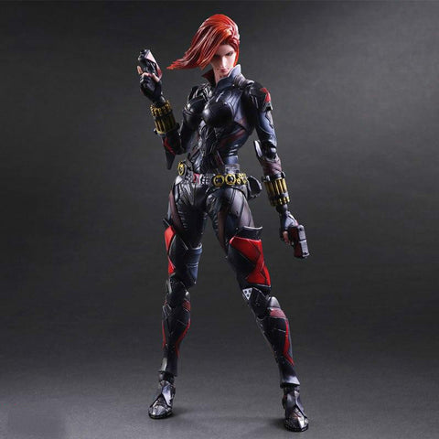 Play Arts Marvel Black Widow Action Figures Toy 25cm KO version