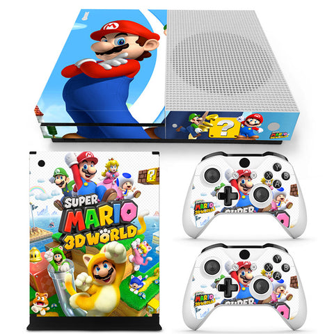 Actionfiguresale Super Mario Vinyl Skin Sticker Protector for Xbox One S