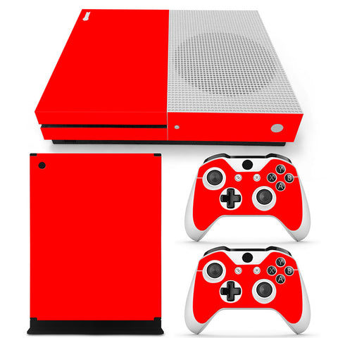 Actionfiguresale Pure Color Vinyl Skin Sticker Protector for Xbox One S